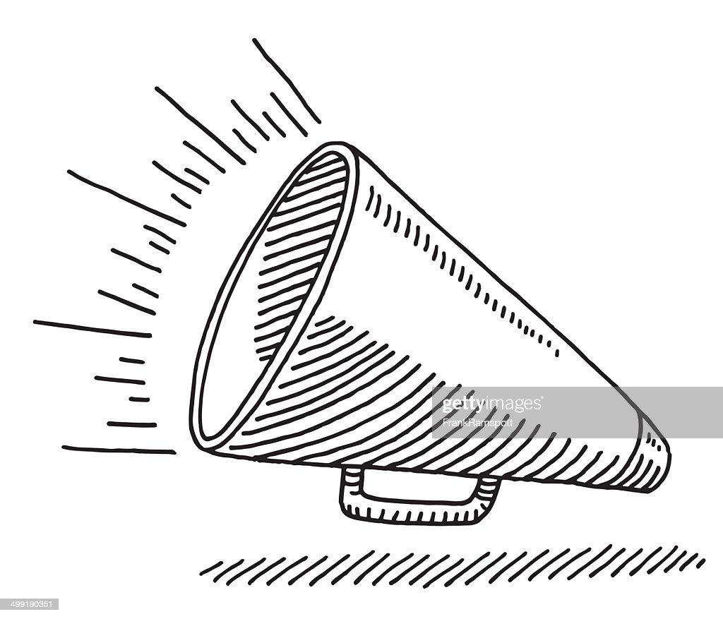 Bullhorn Equipment Drawing : Stock Illustration