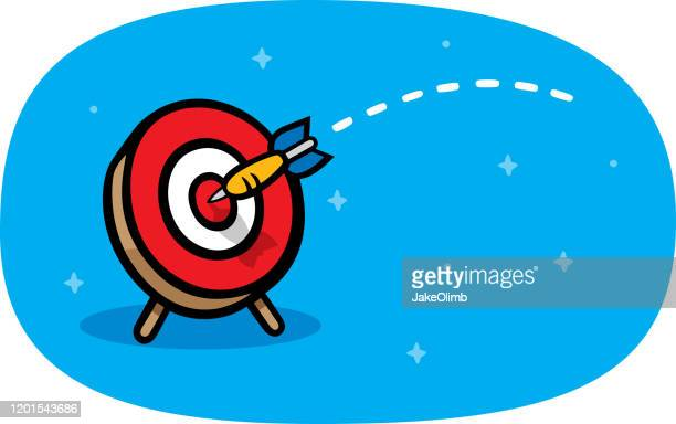 bull's eye dart doodle - dart stock illustrations