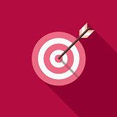 Bullseye Flat Design Valentine's Day Romance Icon