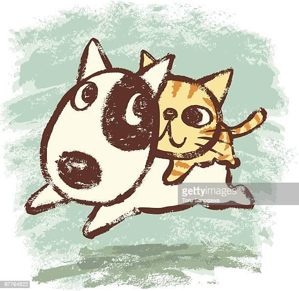 Bullterrier y mascota