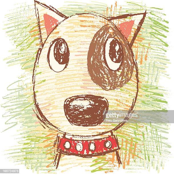 Bullterrier por dibujados a mano