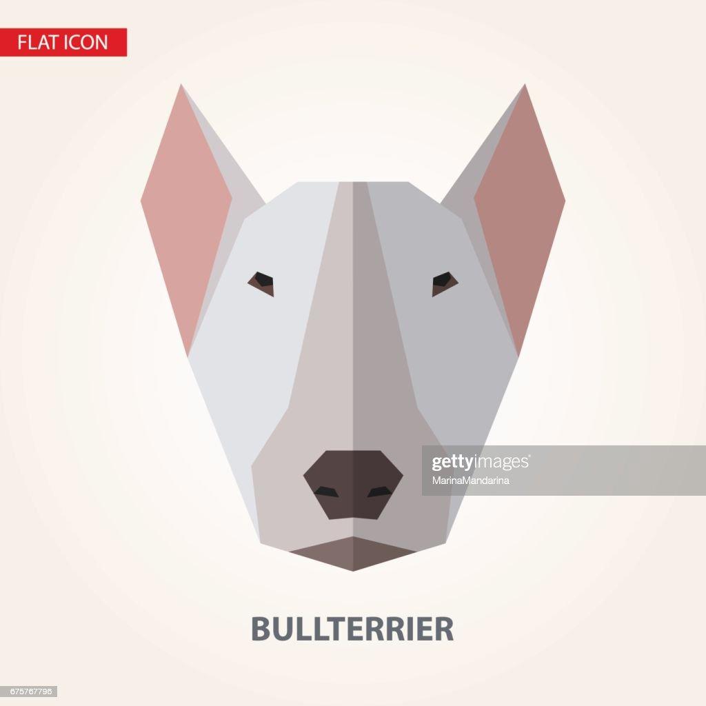 Bullterrier head vector illustration.