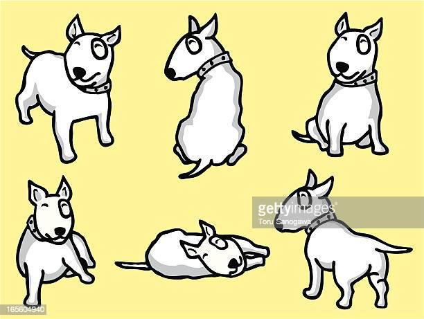 bullterrier - bull terrier stock illustrations