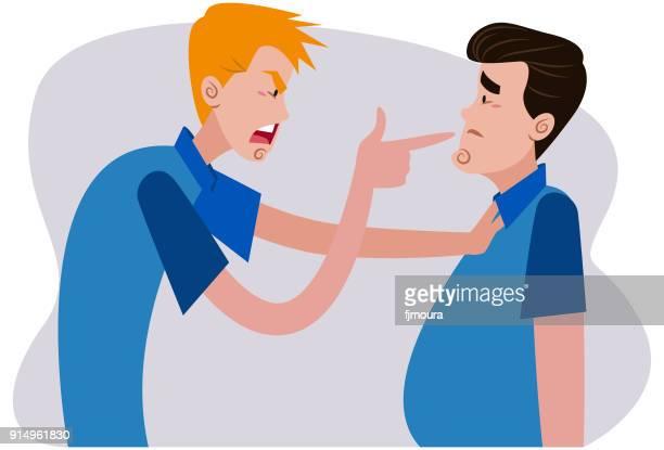 ilustraciones, imágenes clip art, dibujos animados e iconos de stock de intimidación, ameaçando o menino - bullying