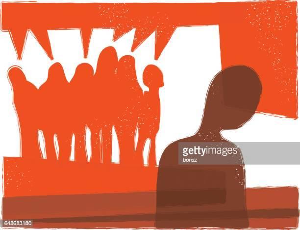 ilustraciones, imágenes clip art, dibujos animados e iconos de stock de acoso escolar - bullying