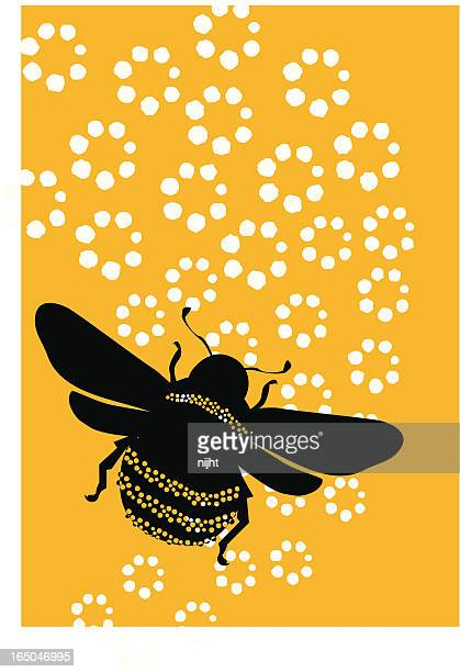 bumblebee polka - bumblebee stock illustrations, clip art, cartoons, & icons