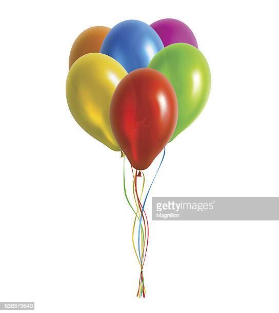 Bunch of Balloons Vector Illustration
