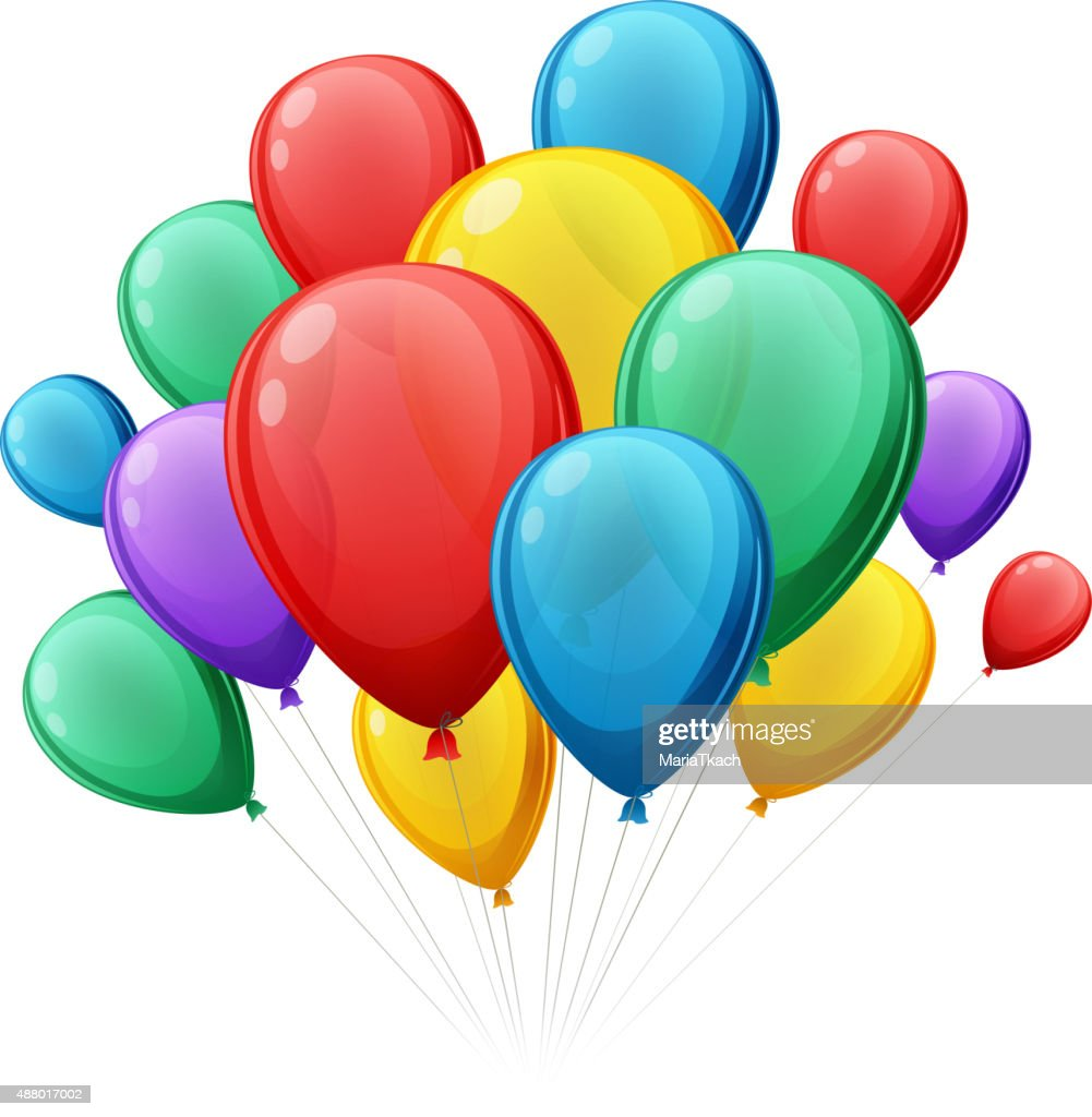 Bunch of colorful balloons vector illustation