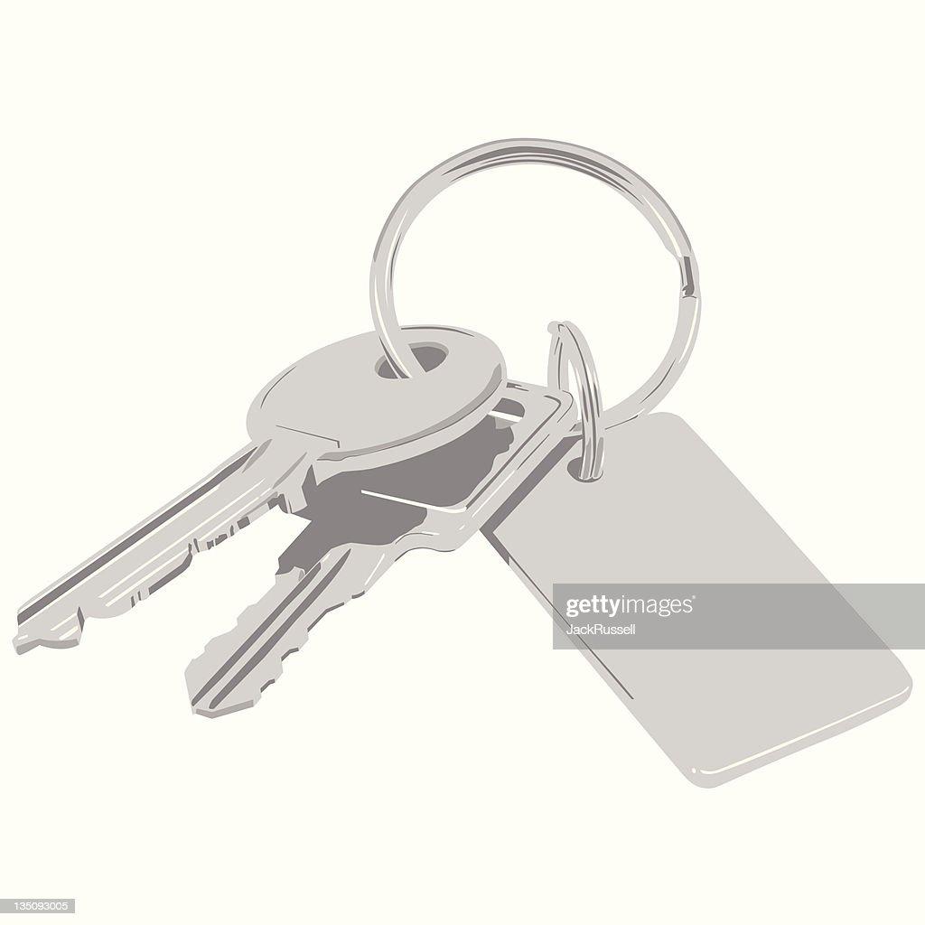 Bunch of keys. Vector.