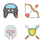 Bundle Of Video Games Flat Icons