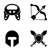 Bundle Of Video Games Glyph Icons