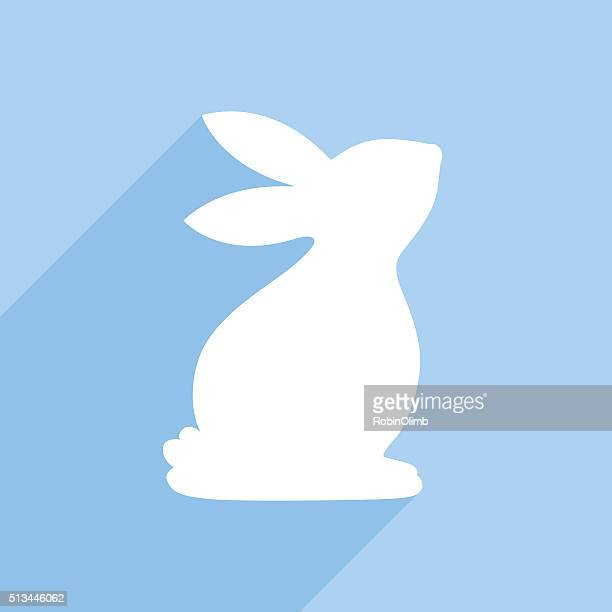 bunny icon - easter bunny stock illustrations, clip art, cartoons, & icons