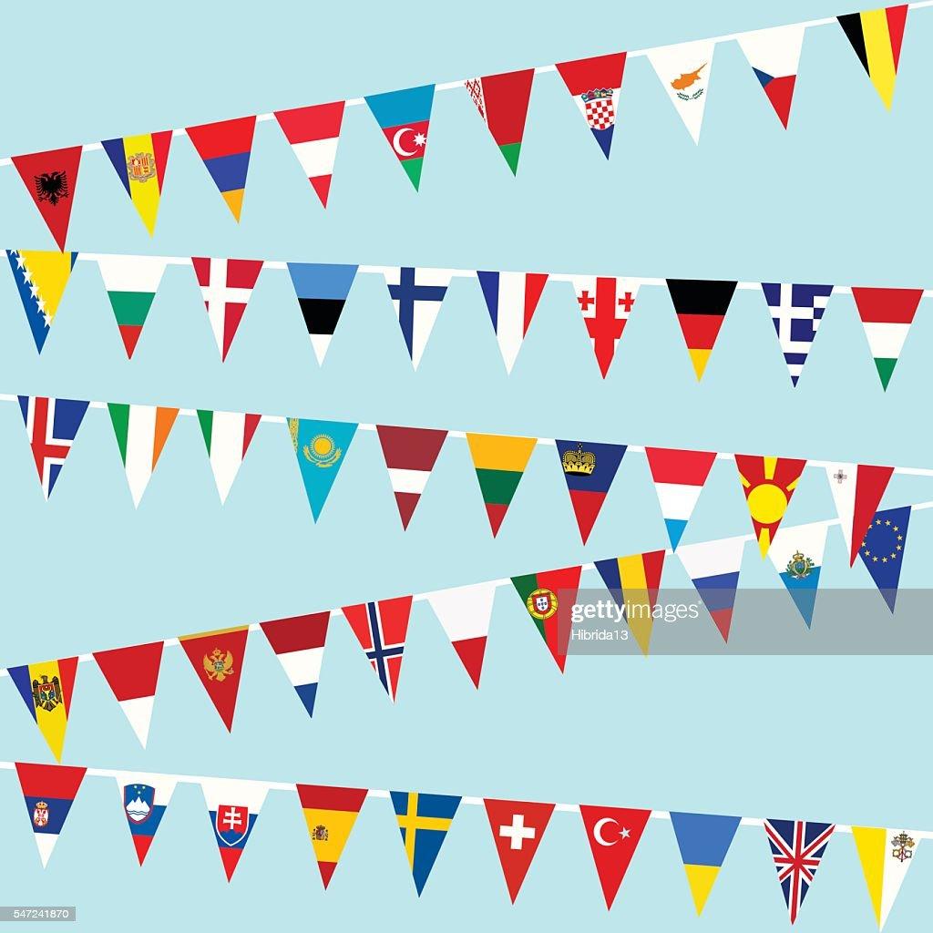 Bunting European Union flags