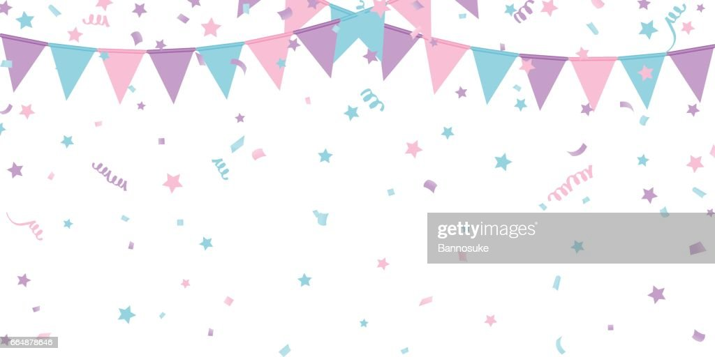 Buntings kids garland isolated on white background