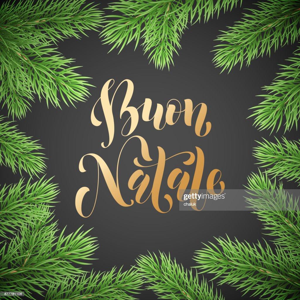 Buon Natale Italienischen Frohe Weihnachten Urlaub Golden ...