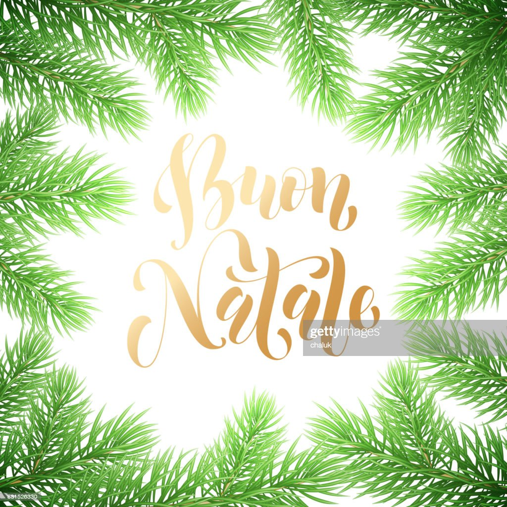 Frohe Weihnachten Rahmen.Buon Natale Italienischen Frohe Weihnachten Urlaub Golden