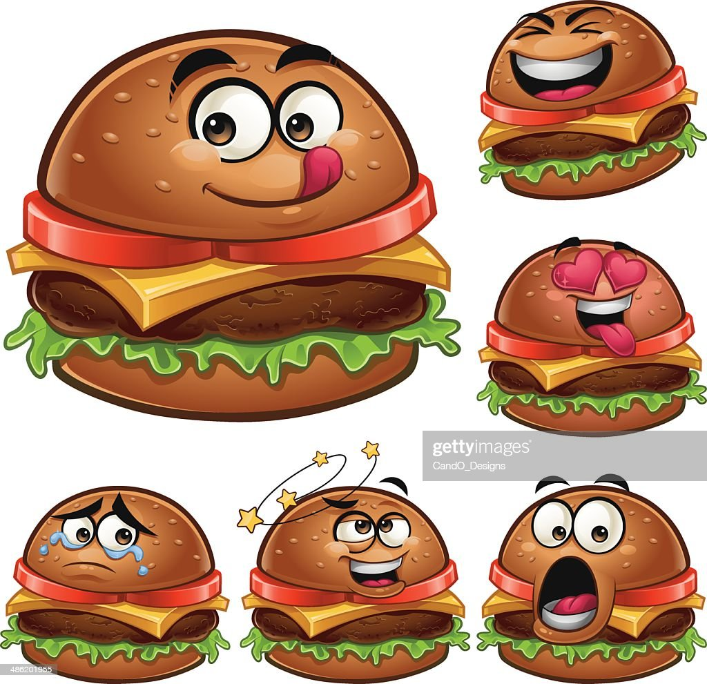 Burger Cartoon Set A