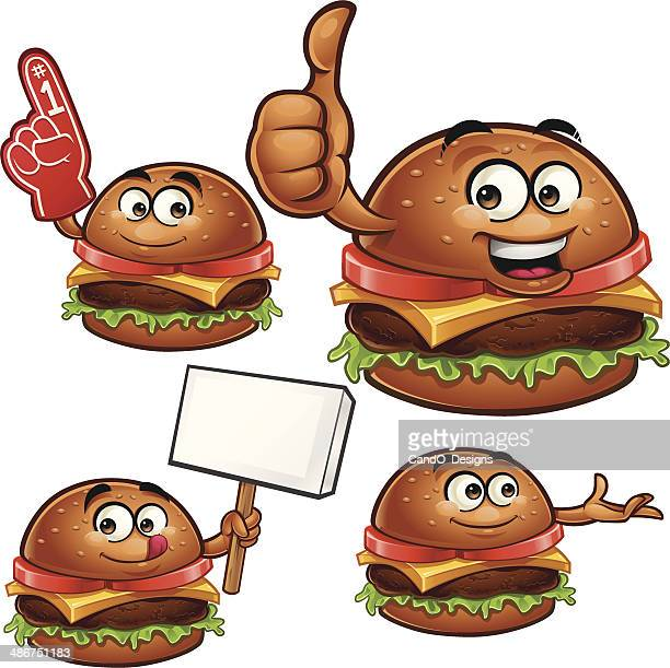 Burger Cartoon Set C