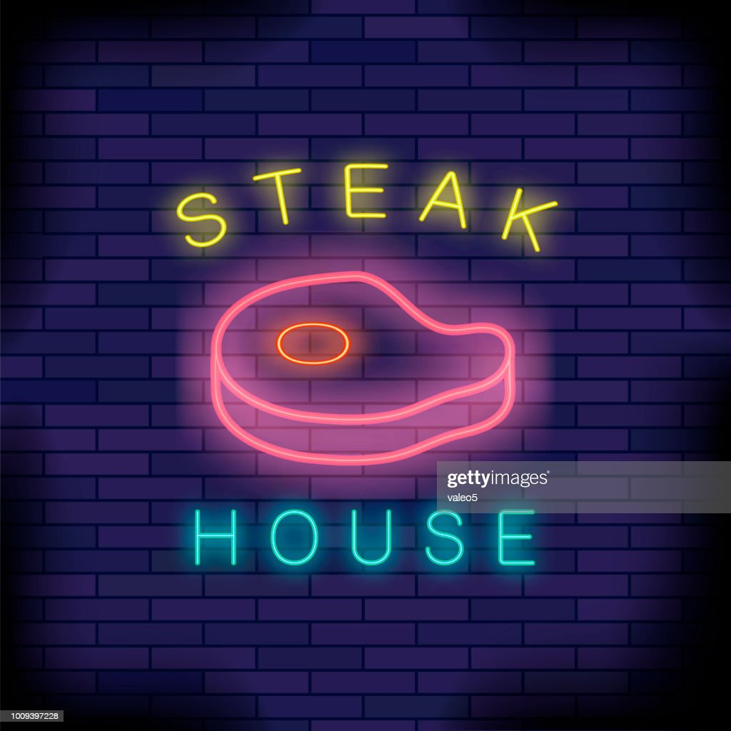 Burger House Neon Colorful Sign