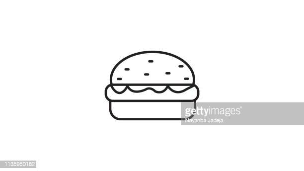 burger icon - ground beef stock illustrations