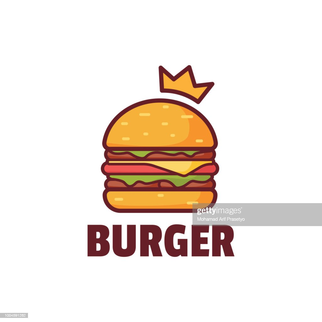 Burger with Crown Logo illustration
