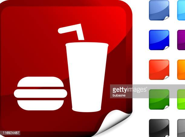 burger with cup of soda royalty free vector art