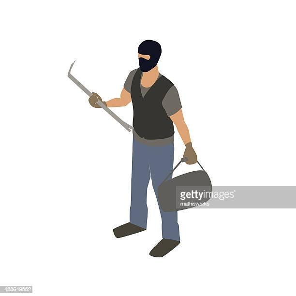 不法侵入にクローバーイラストレーション - 侵入窃盗点のイラスト素材/クリップアート素材/マンガ素材/アイコン素材