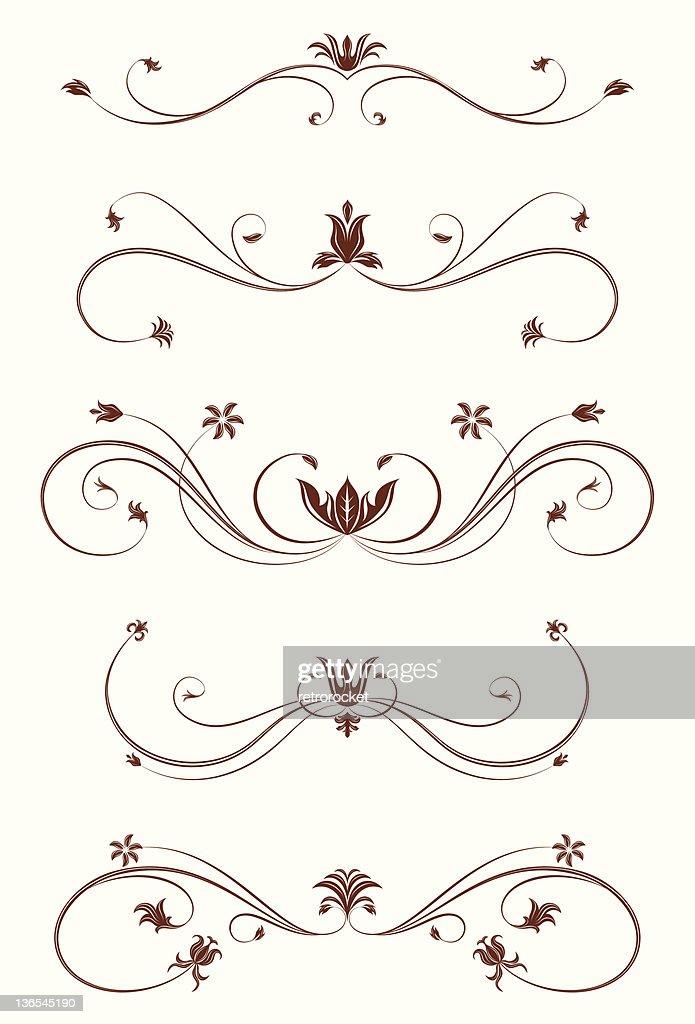 burgundy floral scrolls