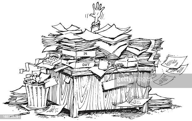 buried in work - buried stock illustrations, clip art, cartoons, & icons