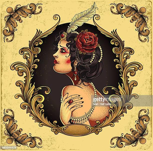 ilustraciones, imágenes clip art, dibujos animados e iconos de stock de chica burlesque - mujer desnuda