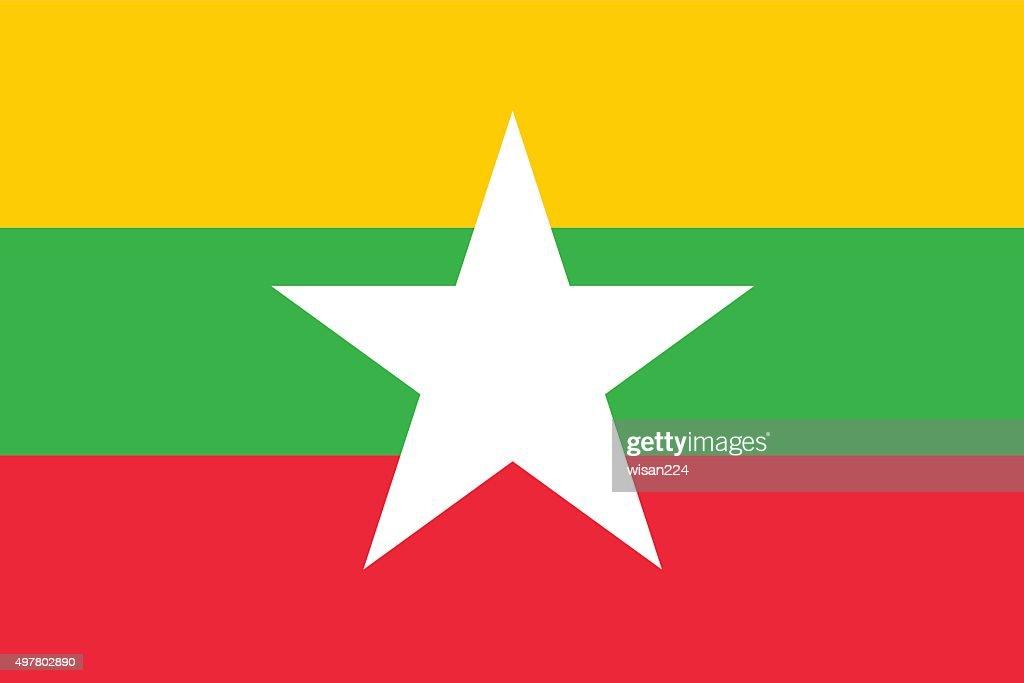 Burma flag isolated vector