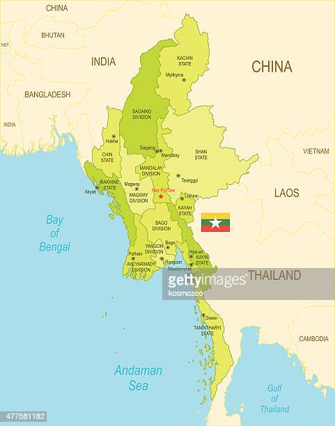 burma - myanmar stock illustrations
