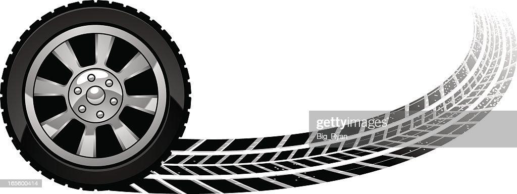 burn out wheel : stock illustration