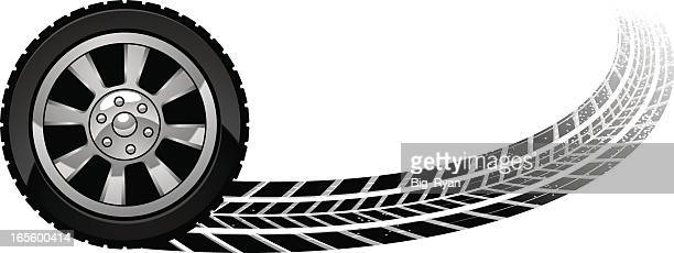 burn out wheel - race car stock illustrations, clip art, cartoons, & icons