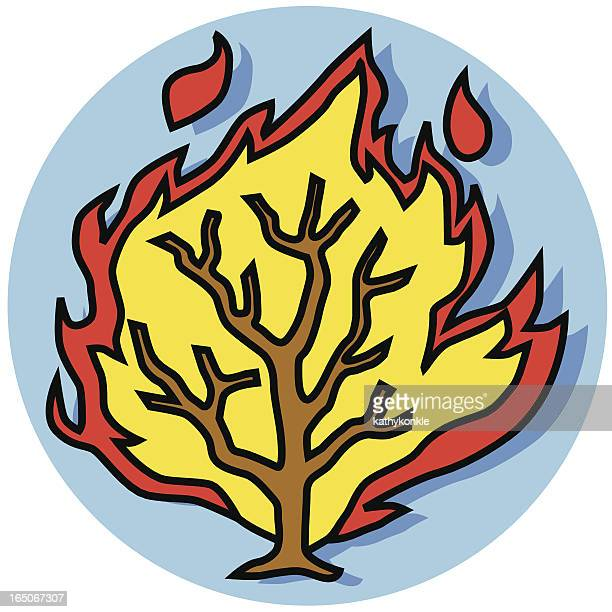 burning ブッシュアイコン - 宗教的人物 モーゼ点のイラスト素材/クリップアート素材/マンガ素材/アイコン素材