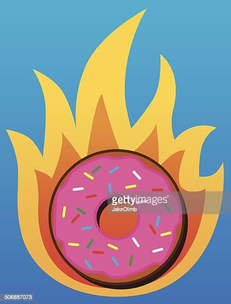 ilustrações, clipart, desenhos animados e ícones de queimar calorias - glazed food