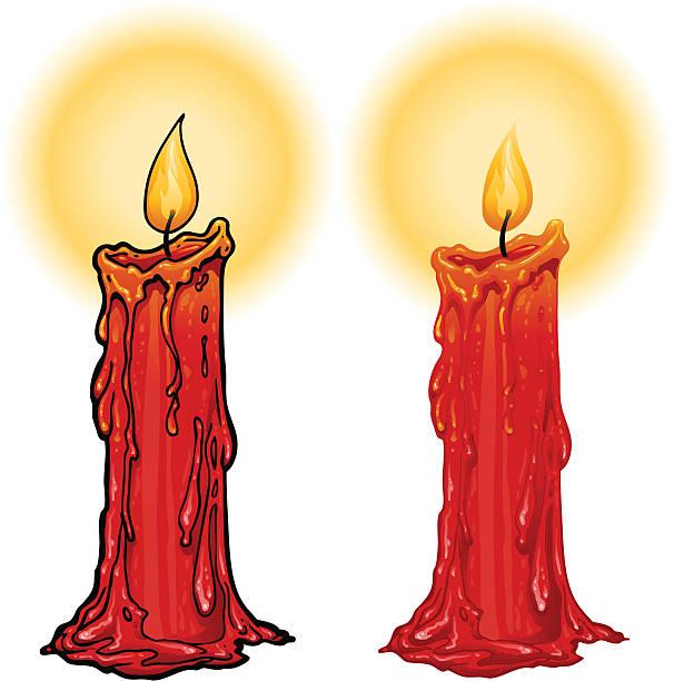 burning candle - melting stock illustrations