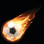 Burning football ball