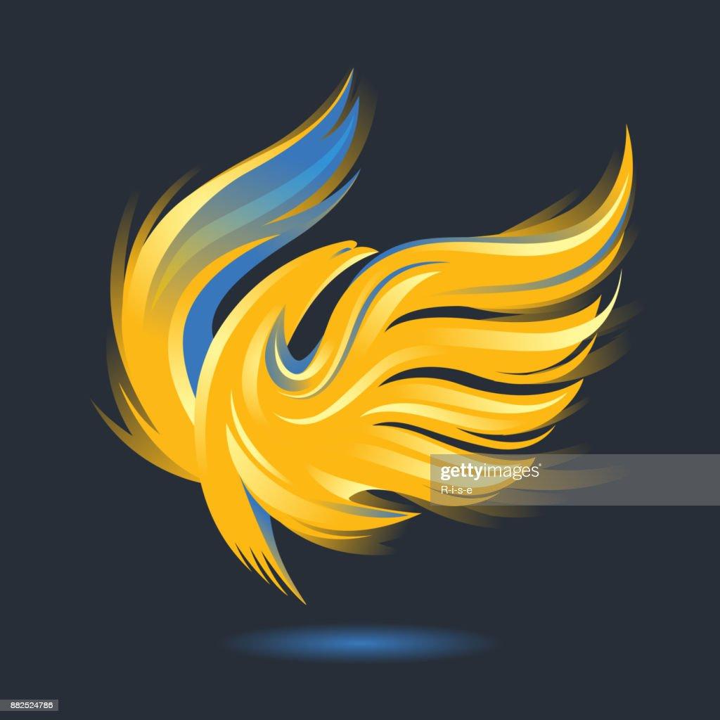 Burning Phoenix bird icon