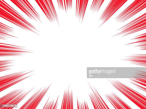 burst explosion background - concentration stock illustrations