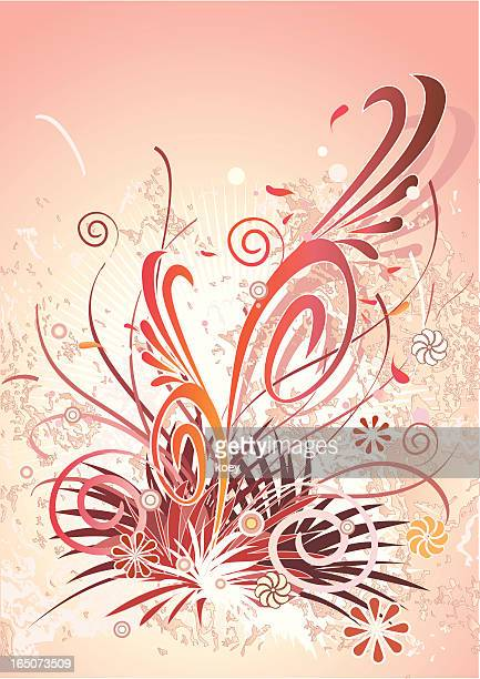 数多くの花の背景 - モダンロック点のイラスト素材/クリップアート素材/マンガ素材/アイコン素材