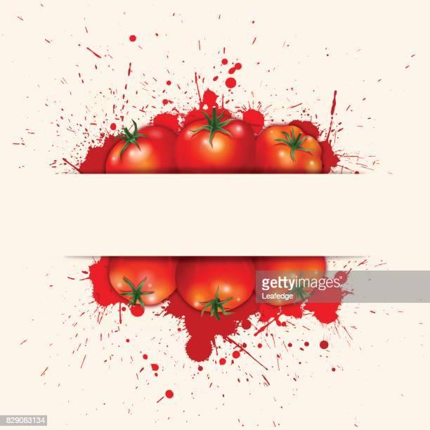 bursting tomatos background - comunidad autonoma de valencia stock illustrations