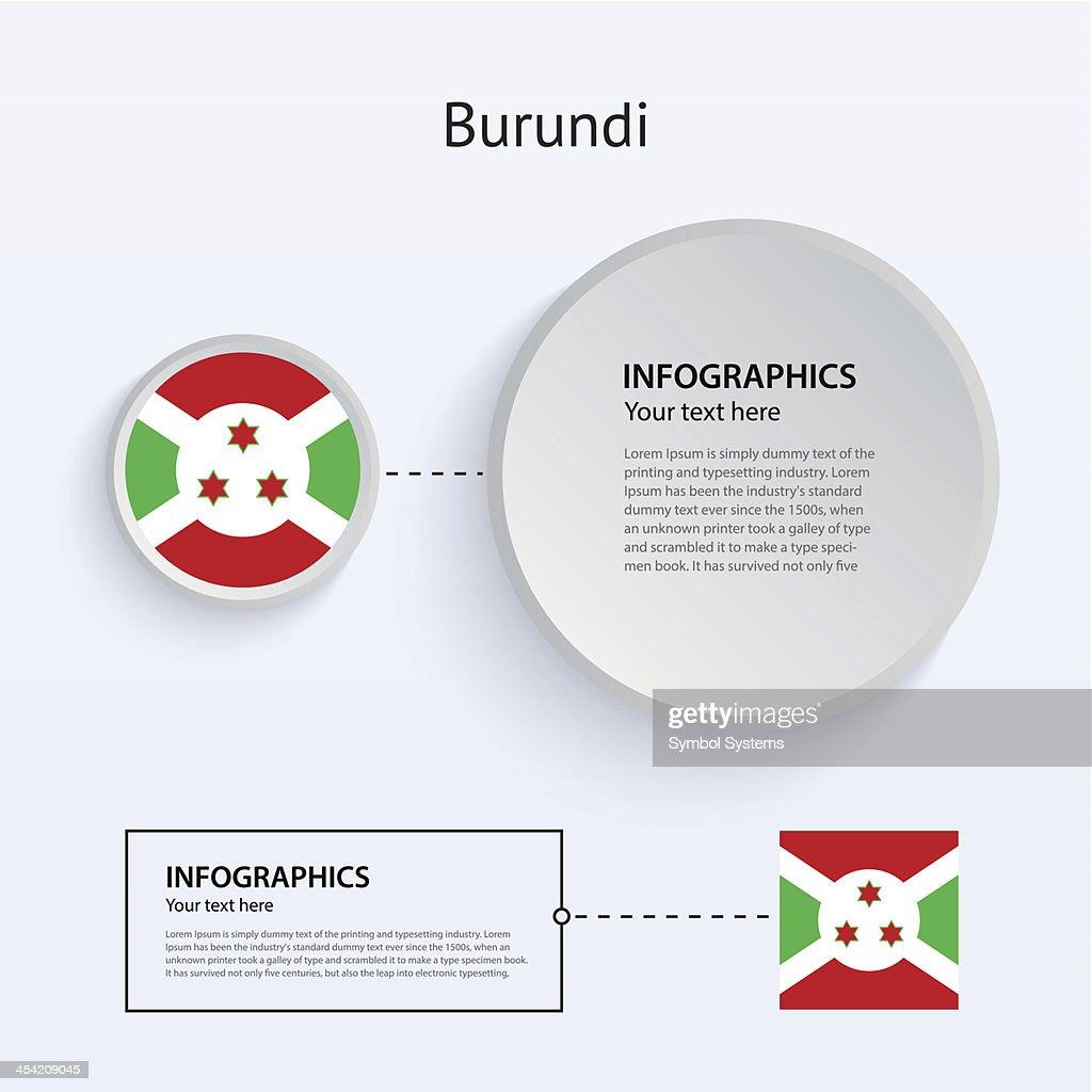 Burundi Country Set of Banners. : Vector Art