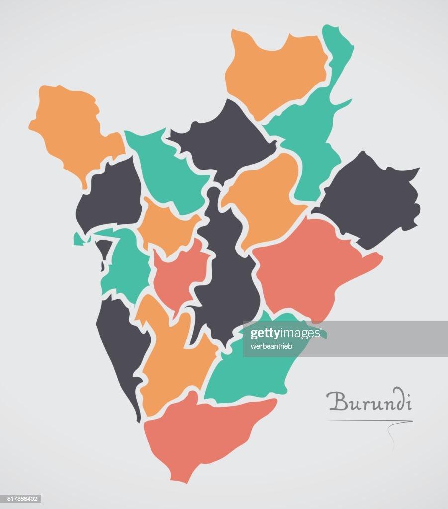 Burundi map with states and modern round shapes vector art getty burundi map with states and modern round shapes vector art gumiabroncs Image collections
