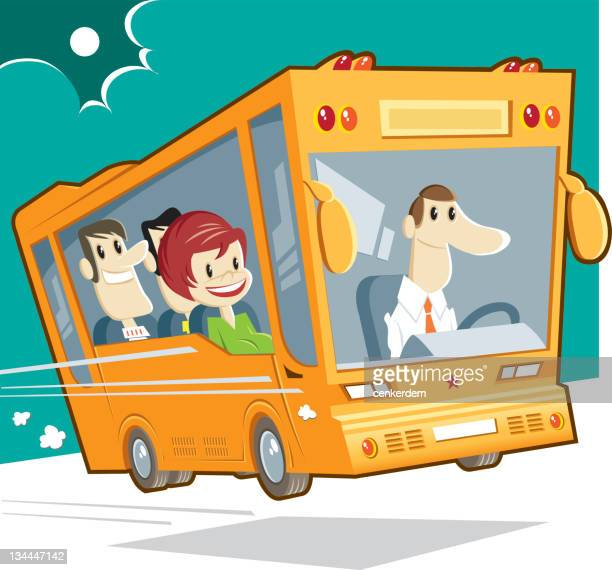bus and passengers