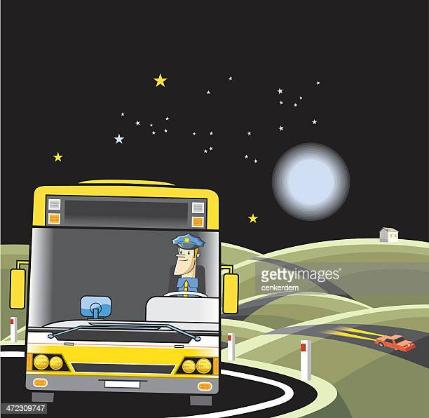 illustrations, cliparts, dessins animés et icônes de bus sur le trajet - abribus