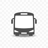 Bus transportation icon design concept.