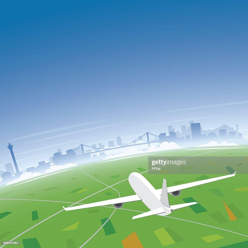 Busan Skyline Flight Destination