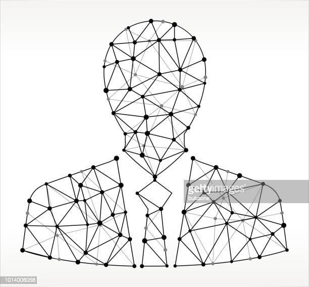 Busienssman  Triangle Node Black and White Pattern