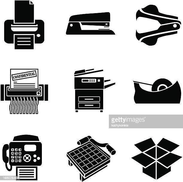 business 06 copy room - photocopier stock illustrations, clip art, cartoons, & icons